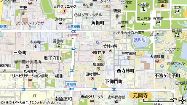 〒630-8343 奈良県奈良市椿井町の地図