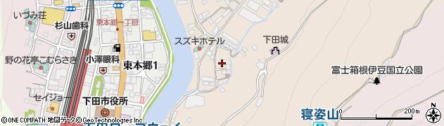 静岡県下田市中和田周辺の地図