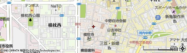 大阪府東大阪市横枕周辺の地図