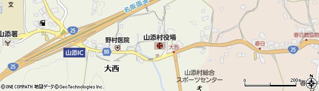 奈良県山添村(山辺郡)周辺の地図