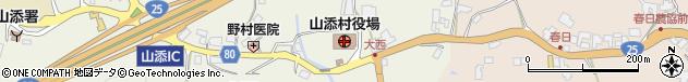 奈良県山辺郡山添村周辺の地図