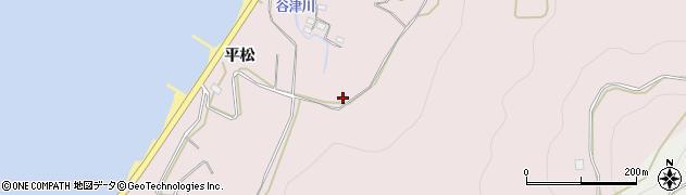 愛知県田原市白谷町(西山)周辺の地図