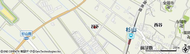 愛知県豊橋市杉山町(谷下)周辺の地図