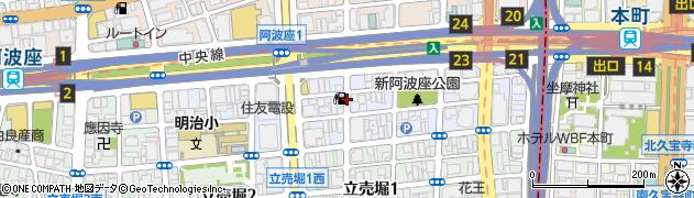 大阪府大阪市西区阿波座周辺の地図
