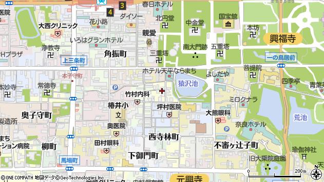 〒630-8221 奈良県奈良市元林院町の地図
