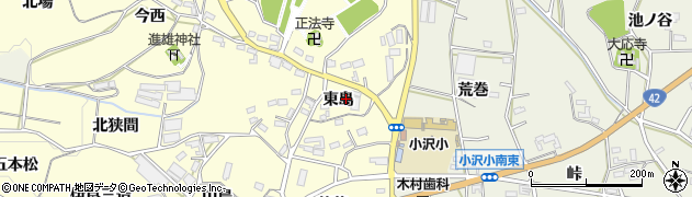 愛知県豊橋市小松原町(東島)周辺の地図