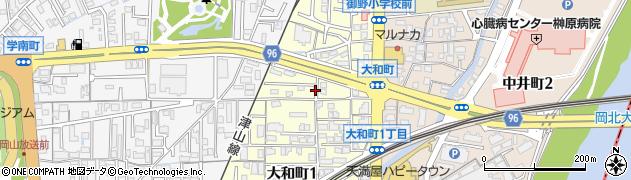 岡山県岡山市北区大和町周辺の地図