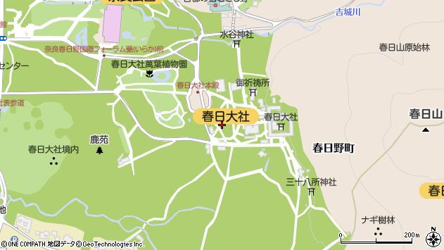〒630-8212 奈良県奈良市春日野町の地図