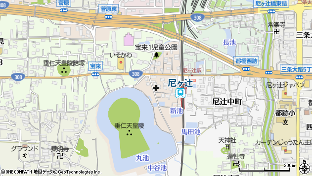 〒630-8023 奈良県奈良市尼辻西町の地図