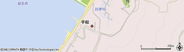 愛知県田原市白谷町(平松)周辺の地図