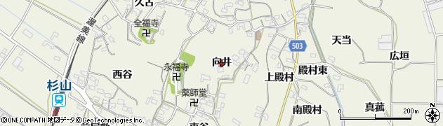 愛知県豊橋市杉山町(向井)周辺の地図