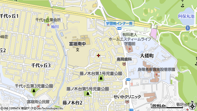 〒631-0044 奈良県奈良市藤ノ木台の地図