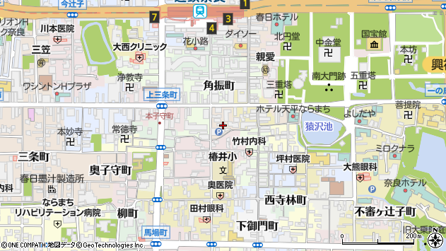 〒630-8223 奈良県奈良市角振新屋町の地図