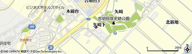 愛知県田原市吉胡町(矢崎下)周辺の地図