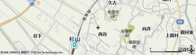 愛知県豊橋市杉山町(西谷)周辺の地図