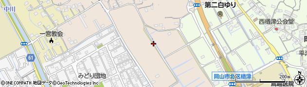 岡山県岡山市北区一宮山崎周辺の地図