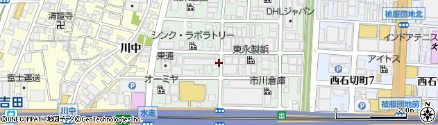 大阪府東大阪市水走周辺の地図