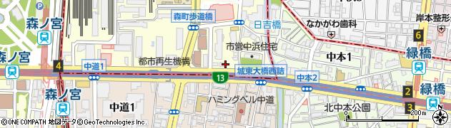 大阪府大阪市城東区森之宮2丁目4-29周辺の地図