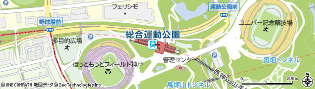 兵庫県神戸市須磨区周辺の地図