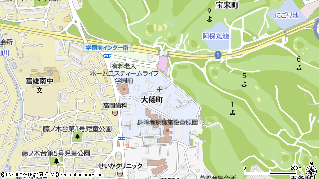 〒631-0042 奈良県奈良市大倭町の地図