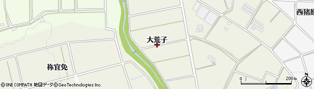 愛知県豊橋市高塚町(大荒子)周辺の地図