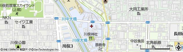 大阪府東大阪市川俣本町周辺の地図