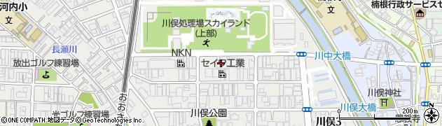 大阪府東大阪市川俣周辺の地図