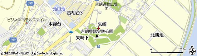愛知県田原市吉胡町(矢崎)周辺の地図