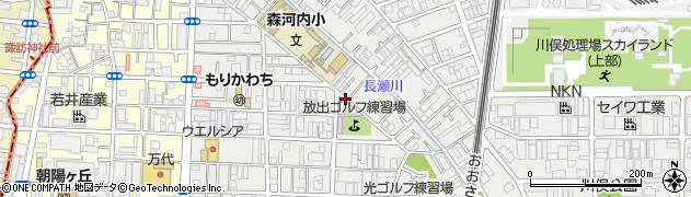 大阪府東大阪市森河内東周辺の地図