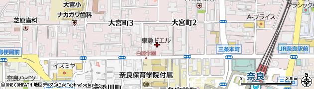 奈良パークビレッジ周辺の地図