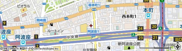 大阪府大阪市西区西本町周辺の地図