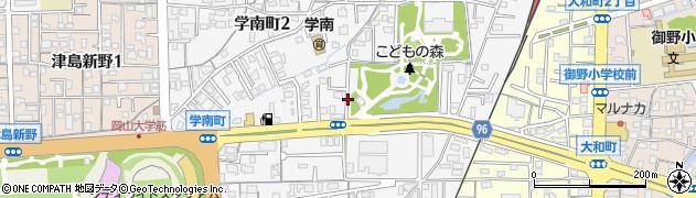 岡山県岡山市北区学南町周辺の地図