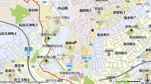 〒652-0057 兵庫県神戸市兵庫区鵯越町の地図