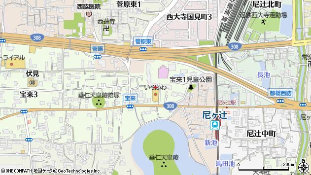 〒631-0845 奈良県奈良市宝来の地図