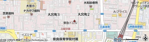 東急ドエル奈良パークビレッジ周辺の地図