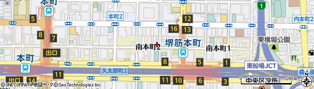 大阪府大阪市中央区南本町2丁目周辺の地図