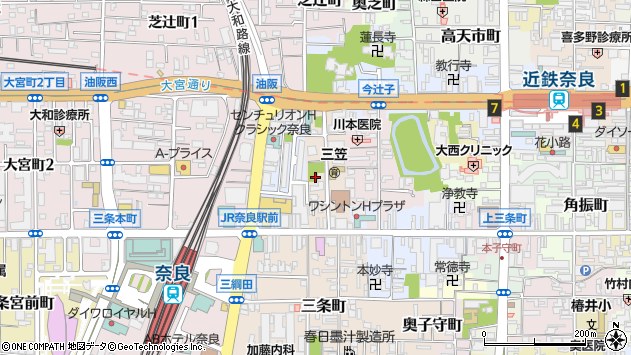 〒630-8245 奈良県奈良市西之阪町の地図