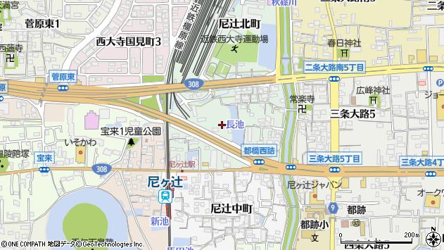 〒630-8025 奈良県奈良市尼辻北町の地図