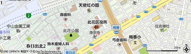 大阪府大阪市此花区周辺の地図