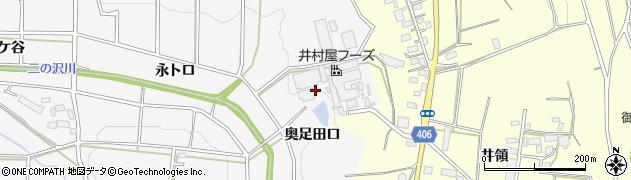 愛知県豊橋市西七根町(奥足田口)周辺の地図