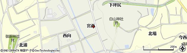 愛知県豊橋市寺沢町(宮西)周辺の地図