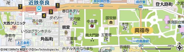 中金堂周辺の地図
