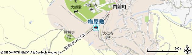 奈良県生駒市周辺の地図