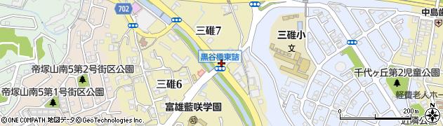 黒谷橋東詰周辺の地図