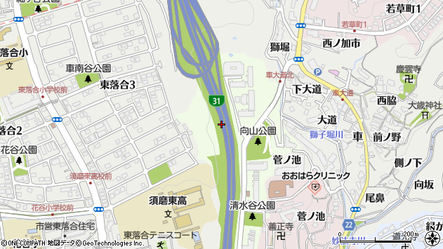 〒654-0123 兵庫県神戸市須磨区清水台の地図