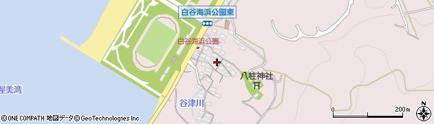 愛知県田原市白谷町(谷津)周辺の地図