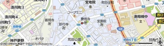 兵庫県神戸市兵庫区荒田町周辺の地図