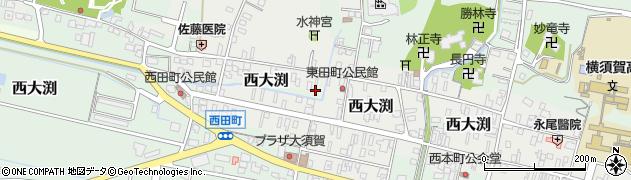 静岡県掛川市横須賀周辺の地図