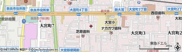 奈良スカイハイツ周辺の地図