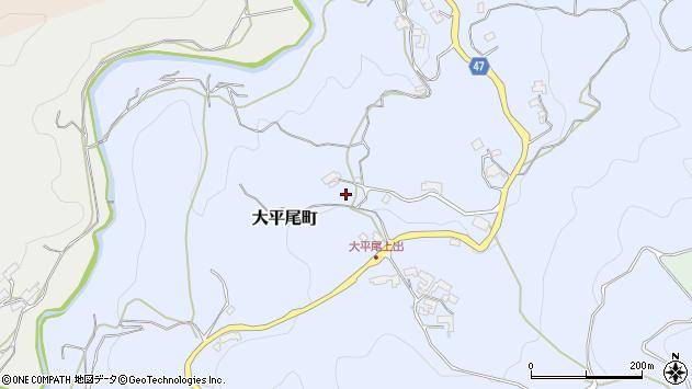 〒630-1243 奈良県奈良市大平尾町の地図